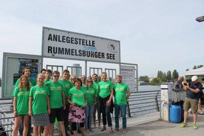 Team #Gutmensch: Unser grünes Team vor dem Drachenboot-Rennen